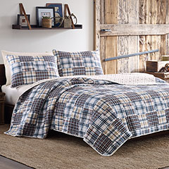 Eddie Bauer Sandpoint Yellow Blue Quilt Set