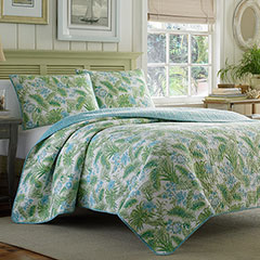 Tommy Bahama Sauters Isle Lagoon Blue Quilt Set