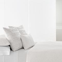 Sculpted Floral White Duvet Cover