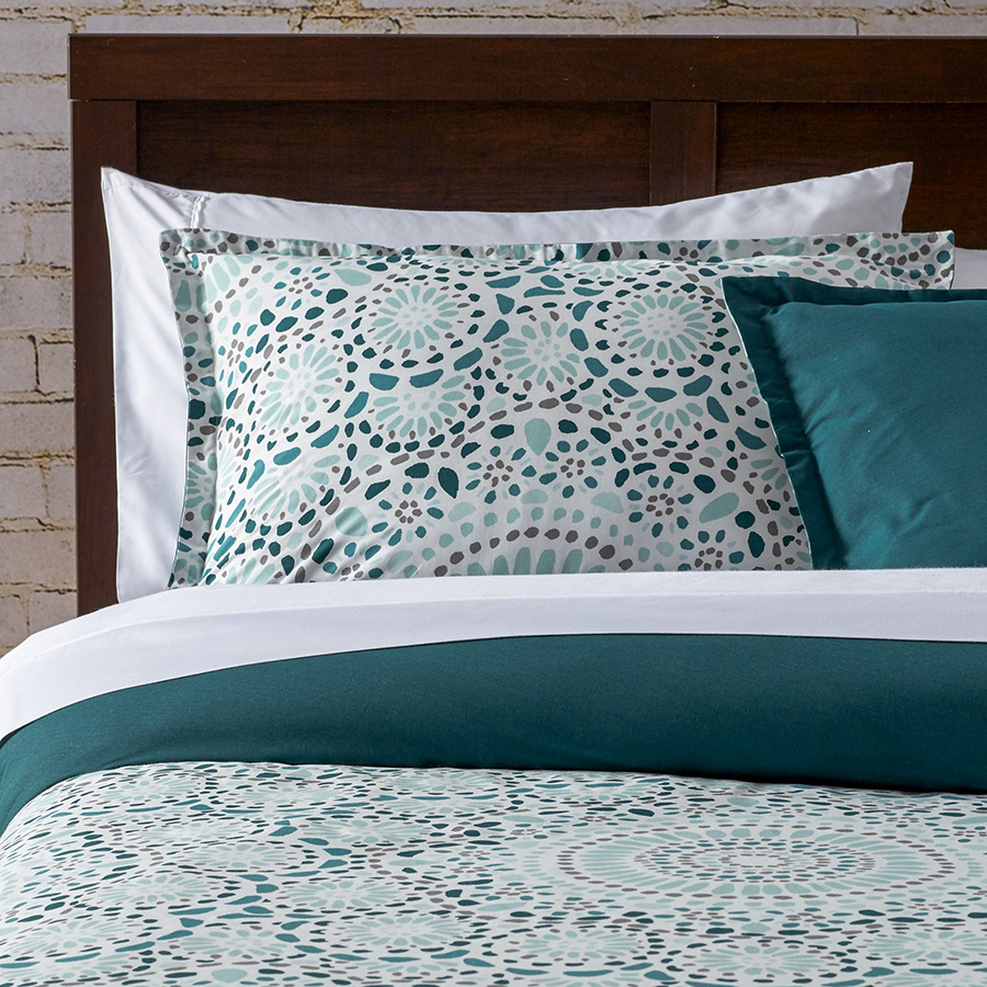 City Scene Selene Teal Comforter And Duvet Set From