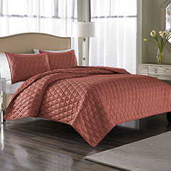 Serenity Coral Coverlet Set