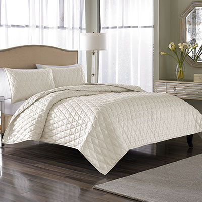 Nicole Miller Serenity Pearl Coverlet Set From