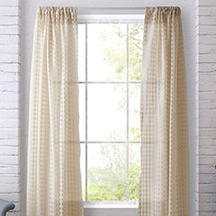 Heritage Landing Sheer Check Ivory Window Treatment