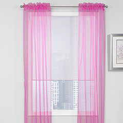 Teen Vogue Sheer Pink Window Treatment