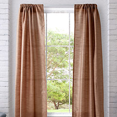 Sheer Stripe Taupe Window Treatment