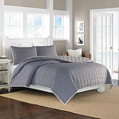 Shelford Navy Coverlet