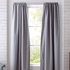 Heritage Landing Shimmer Silver Grey Window Treatment