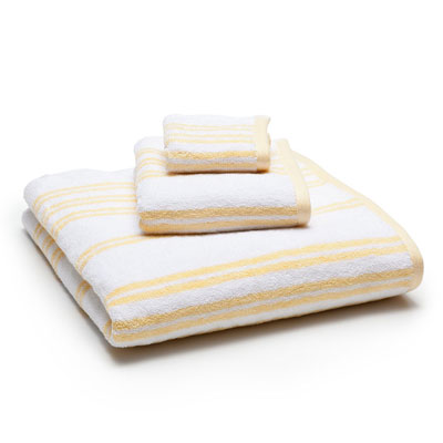 Laura Ashley Shirting Stripe Towel Daisy
