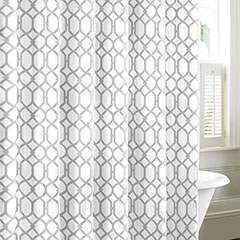 Shoretown Gray Shower Curtain