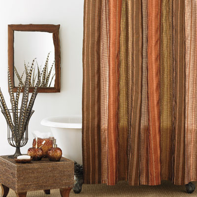 Beddingstyle Columbia Sierra Copper Shower Curtain