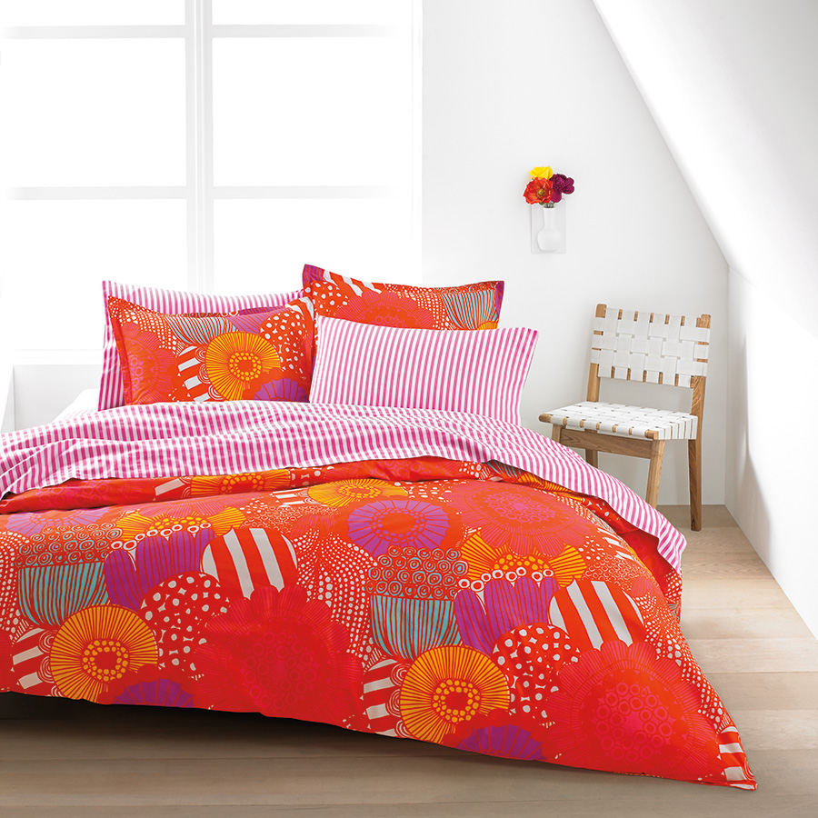Marimekko Siirtolapuutarha Orange Duvet Set From