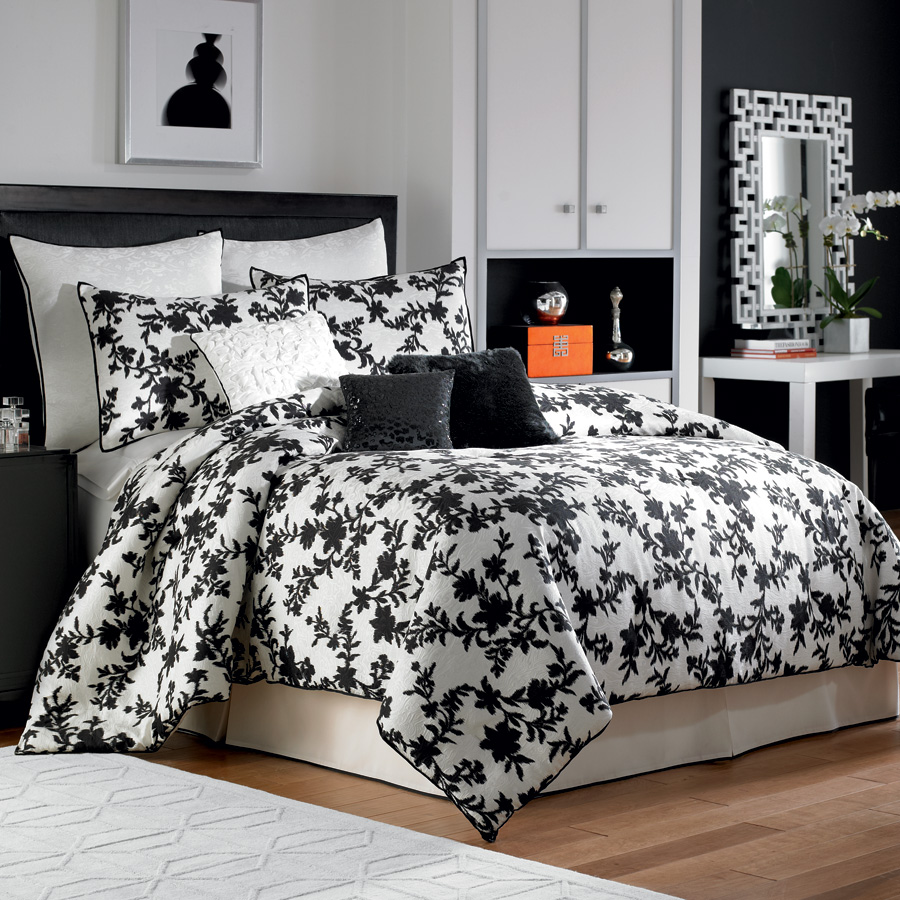Bed sheet set black and white - King