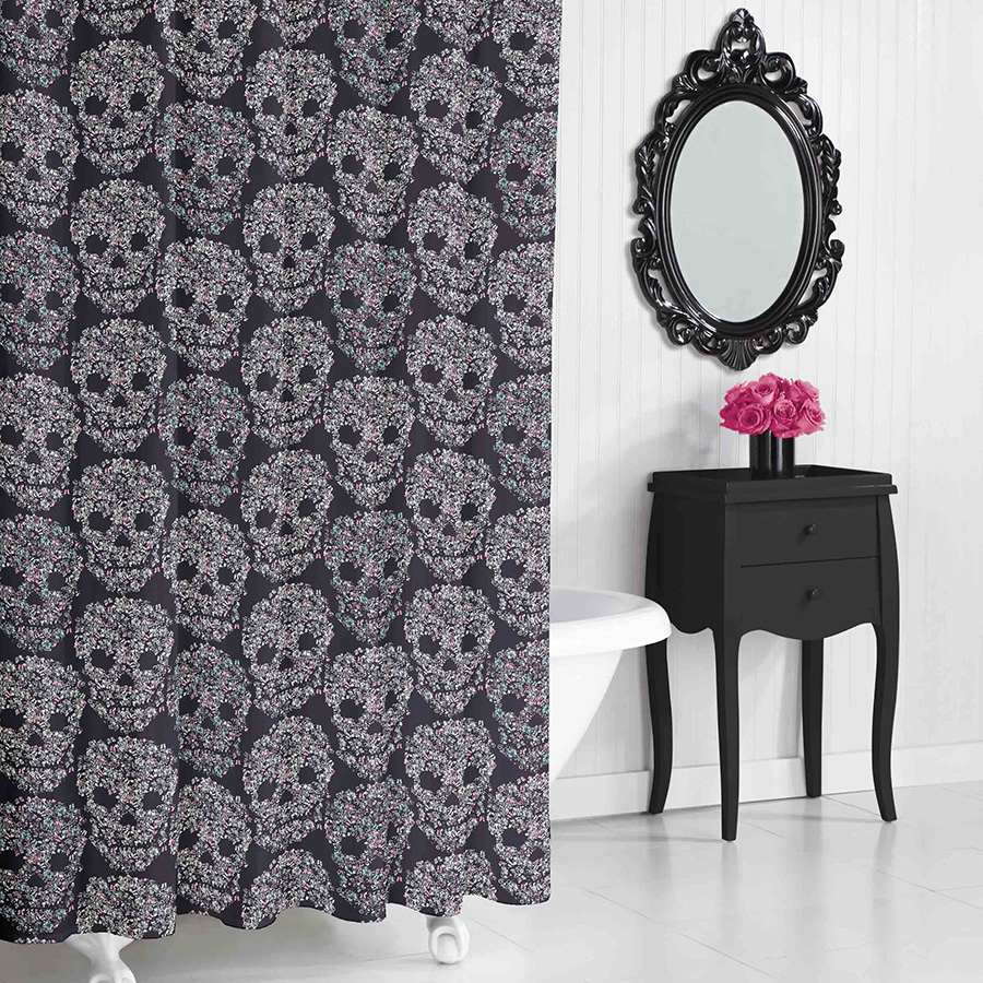 Shower Curtain Betsey Johnson Skull Candy