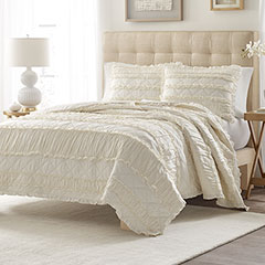 Stone Cottage Solid Ruffle Quilt Set