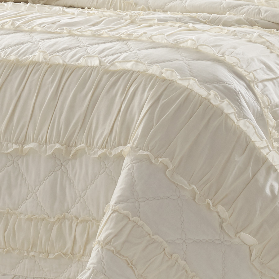 Stone Cottage Solid Ruffle Quilt Set From Beddingstyle Com