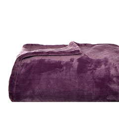 Soft Plush Plum Throw Blanket
