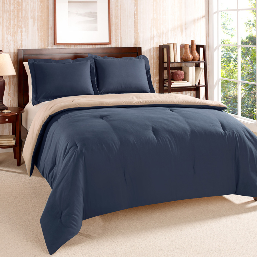 Tommy Hilfiger Solid Navy Comforter Set From