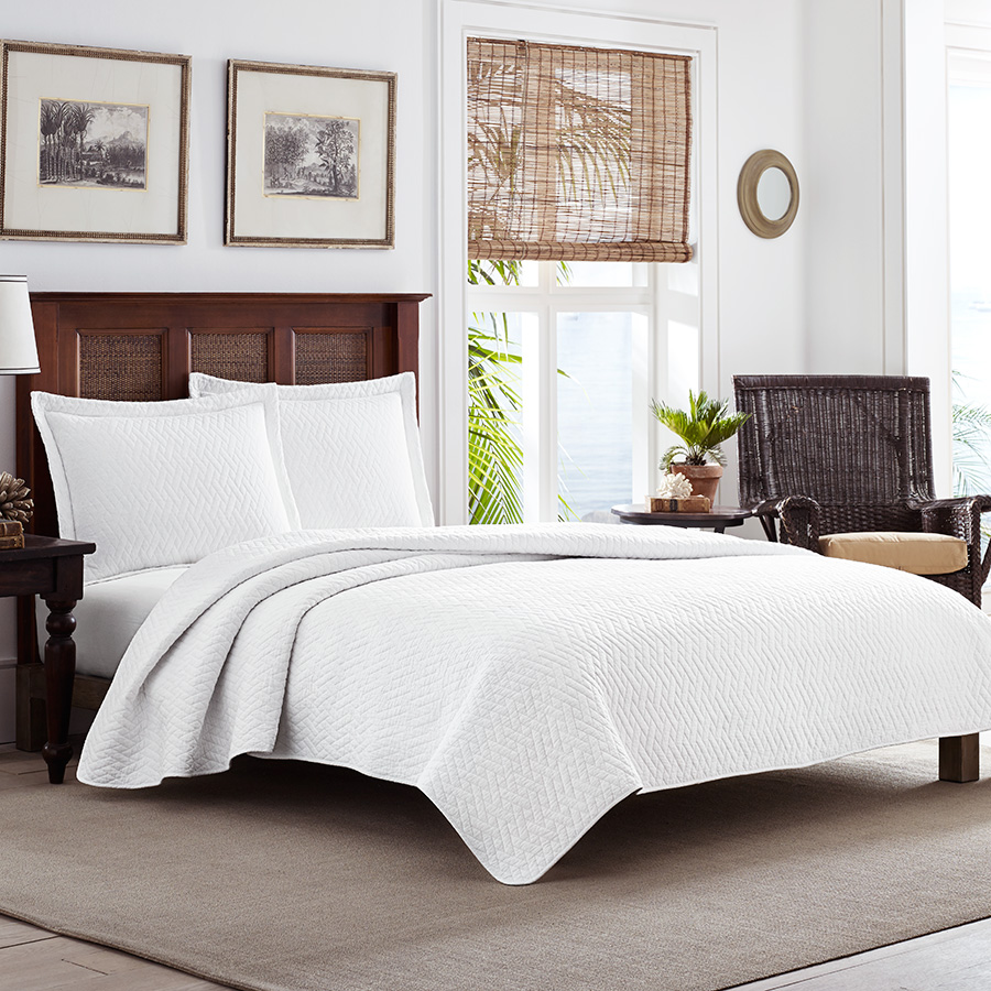 Twin Quilt Set (Tommy Bahama Solid White)