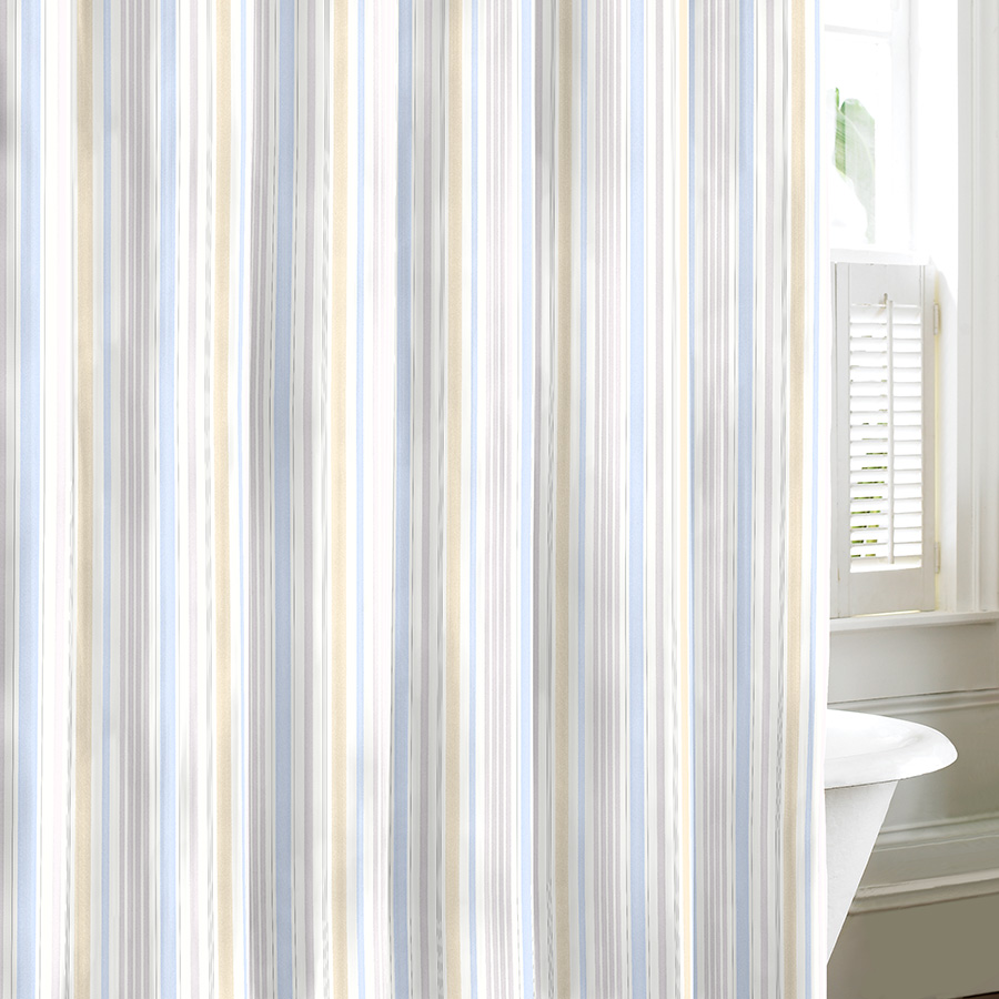 Laura Ashley Somerset Neutral Shower Curtain from Beddingstyle.com