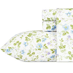 Laura Ashley Spring Bloom Wildflower Blue Sheet Set