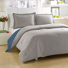Solid Reversible Comforter Set