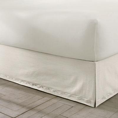 L'erba Sanctuary Solid Ivory Bedskirt