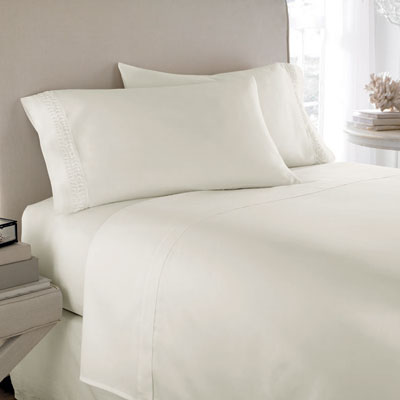 L'erba Sanctuary Solid Ivory Sheet Set