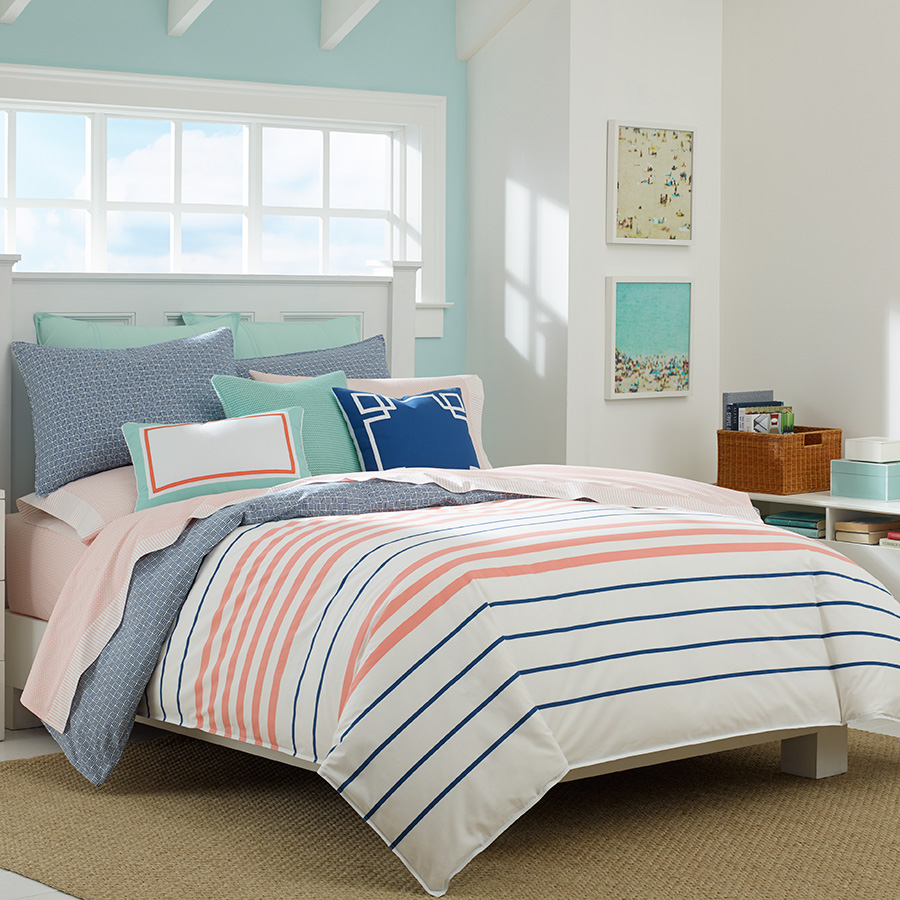 Nautica Staysail White Comforter And Duvet Set From
