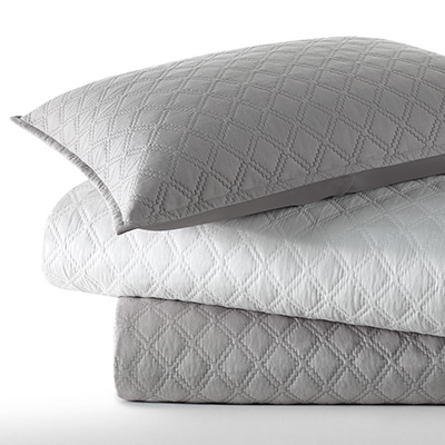 Vera Wang Step Edge Quilt Set