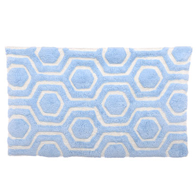 Candice Olson Strands Breeze/Cloud White Bath Rug