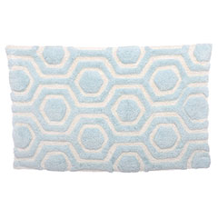 Strands Robins Egg/Cloud White Bath Rug