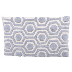 Strands Nimbus/Cloud White Bath Rug
