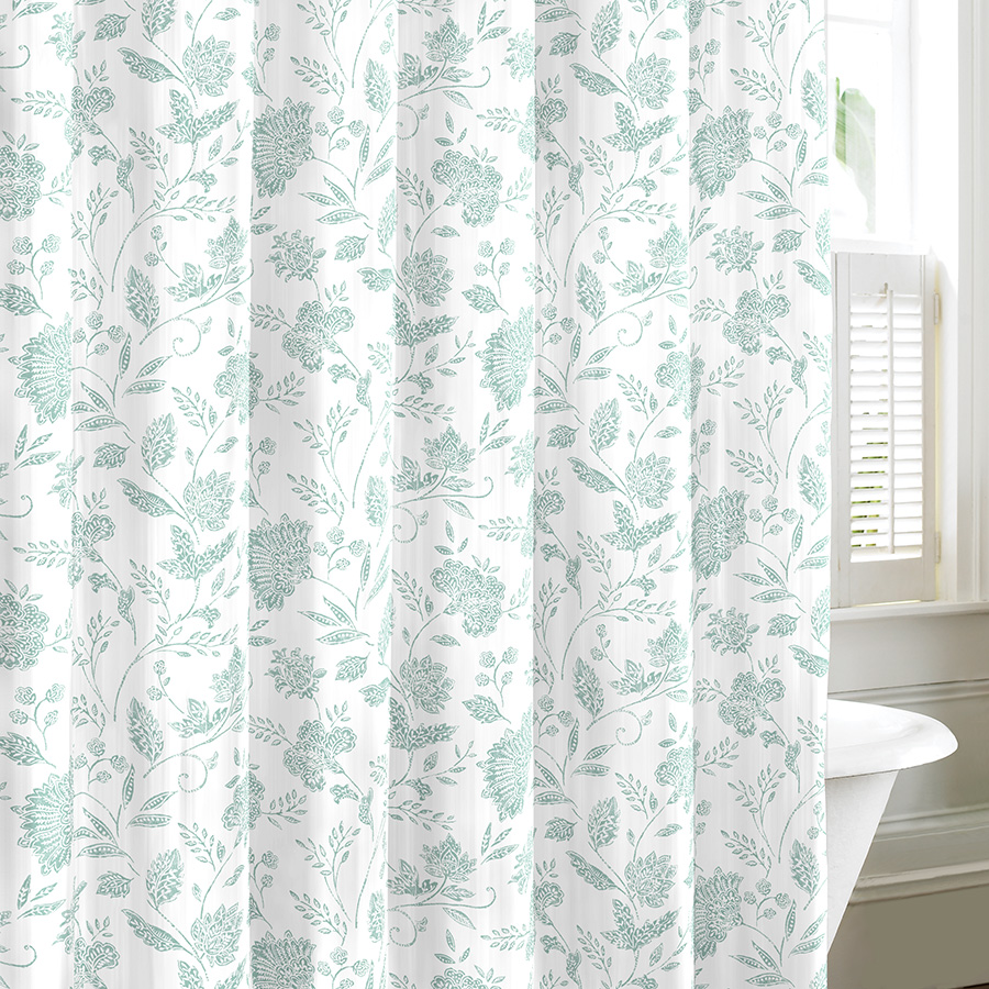 Tommy Bahama Sunkissed Harbor Blue Shower Curtain From