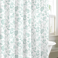Tommy Bahama Sunkissed Harbor Blue Shower Curtain
