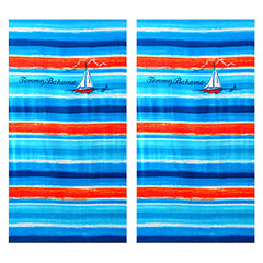 Sunset Sail 2-Piece Beach Towel Set