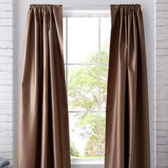 Heritage Landing Taupe Blackout Window Treatment