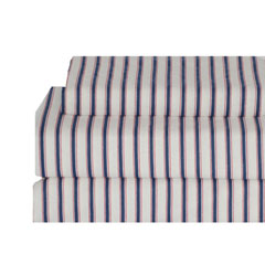 Ticking Stripe Flannel Sheet Set