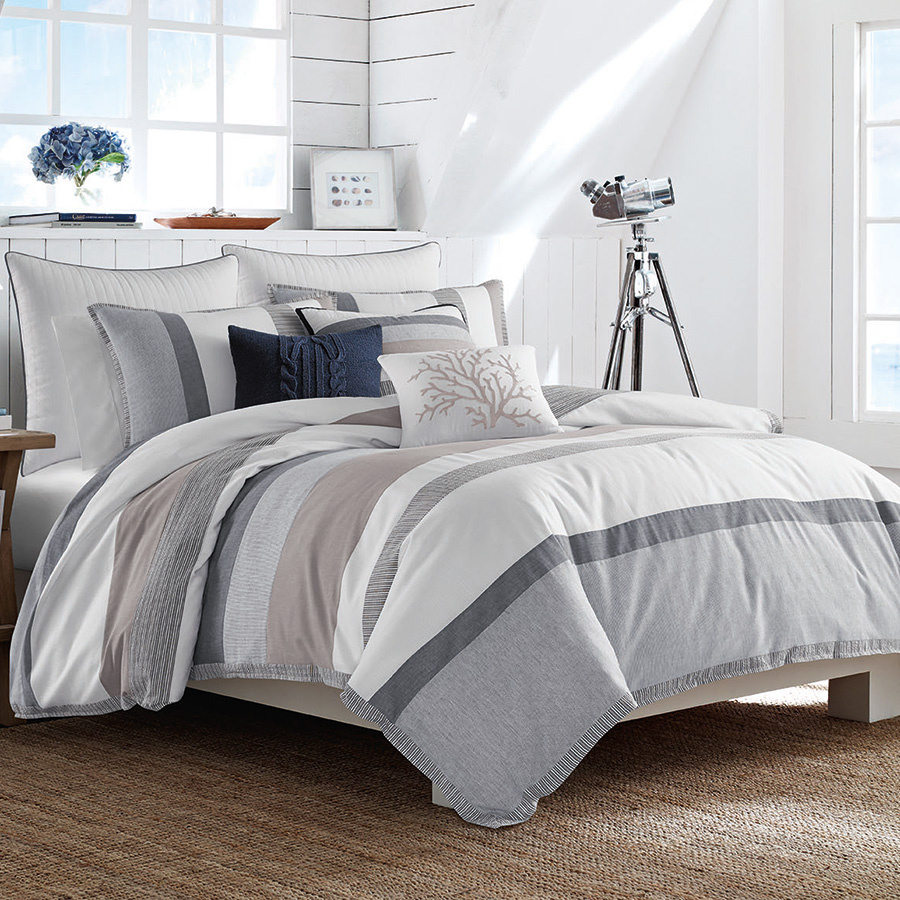 Nautical Bedding King: Nautica Tideway Comforter Set From Beddingstyle.com