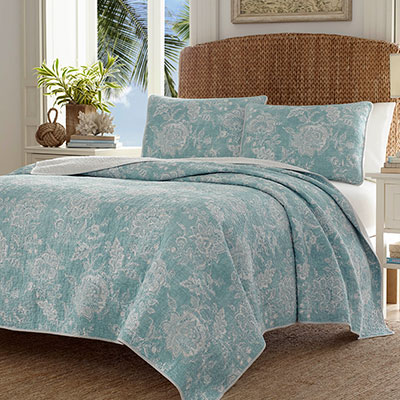 Tommy Bahama Tidewater Jacobean Quilt Set From