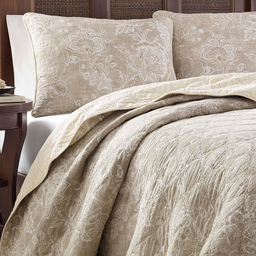 Tommy Bahama Tidewater Jacobean Raffia Quilt Set From