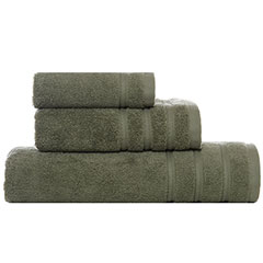 Vera Wang  Twill Stripe Moss Towel Set