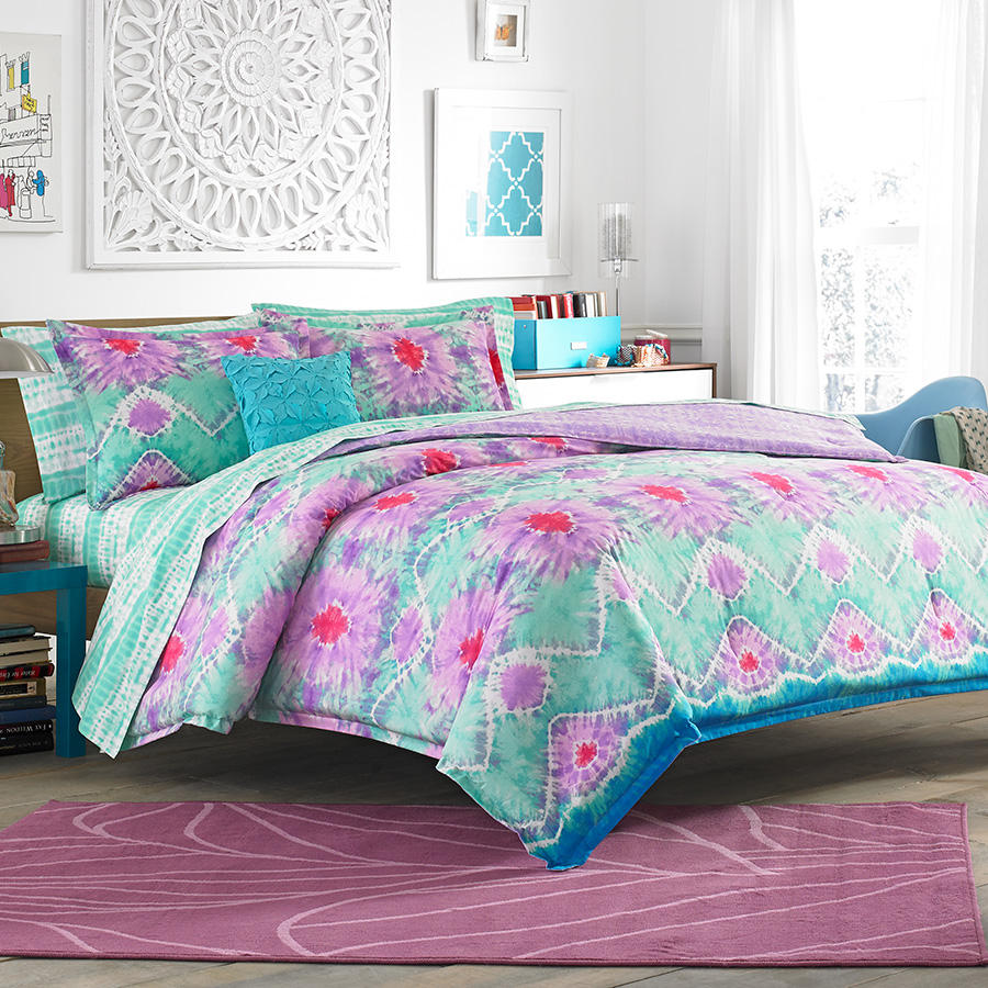 Full Queen Comforter Set Teen Vogue To Dye For