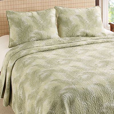 Tommy Bahama Tossed Palm Quilt Set
