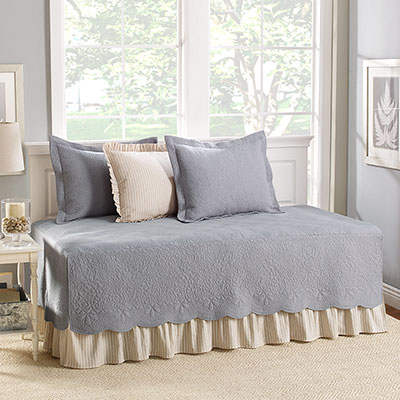 Stone Cottage Trellis Gray Daybed