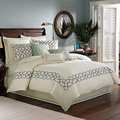 Trellis Sea Mist Duvet Cover