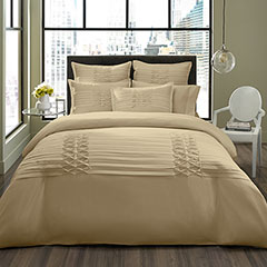 Triple Diamond Taupe Duvet Set