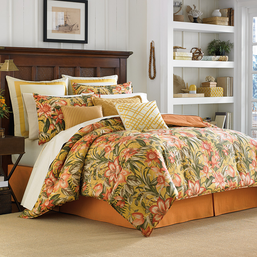 Bedding Decor: Tommy Bahama Tropical Lily Comforter & Duvet Sets From