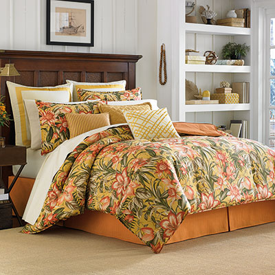 Tommy Bahama Tropical Lily Comforter & Duvet Sets