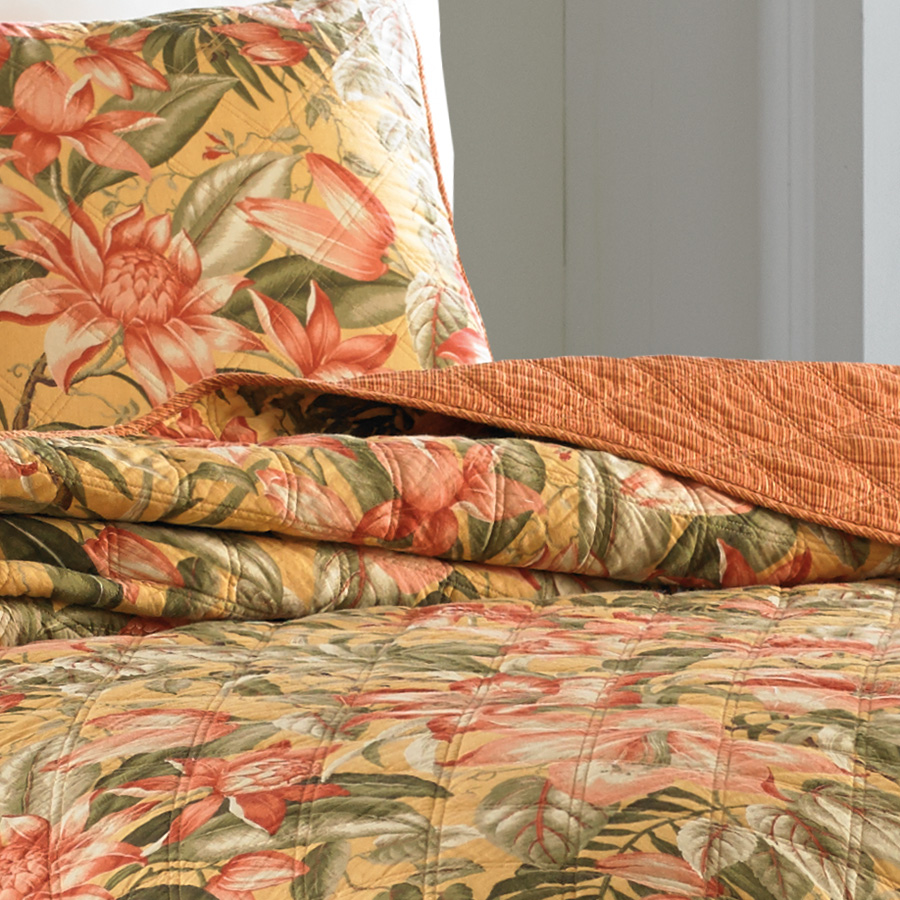 Tommy Bahama Tropical Lily Quilt From Beddingstyle Com