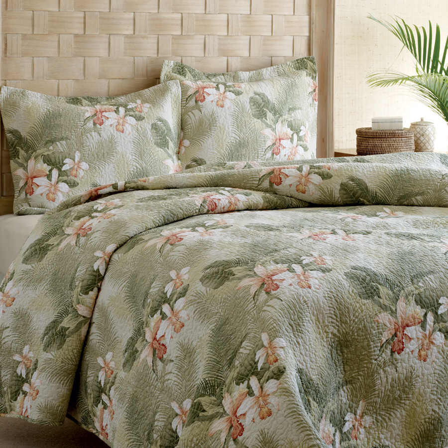 Tommy Bahama Tropical Orchid Quilt Set From Beddingstyle Com